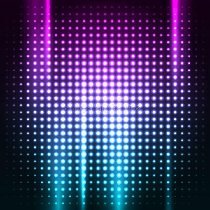Fondo colorido abstracto del club del disco ilustración del vector