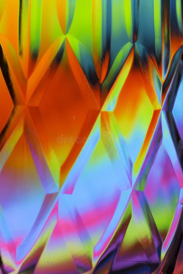 Fondo colorido abstracto del cristal tallado stock de ilustración