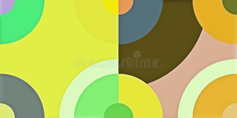 Fondo colorido abstracto del fondo geométrico de los gráficos radiales ilustración del vector