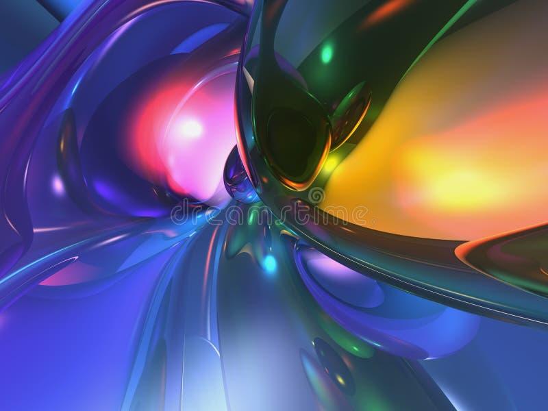 fondo colorido abstracto del papel pintado 3D ilustración del vector