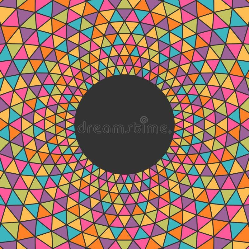 Fondo colorido abstracto del triángulo con el lugar para su contenido ilustración del vector