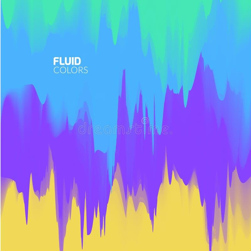 Fondo colorido abstracto del vector Colores que fluyen ligeros ilustración del vector