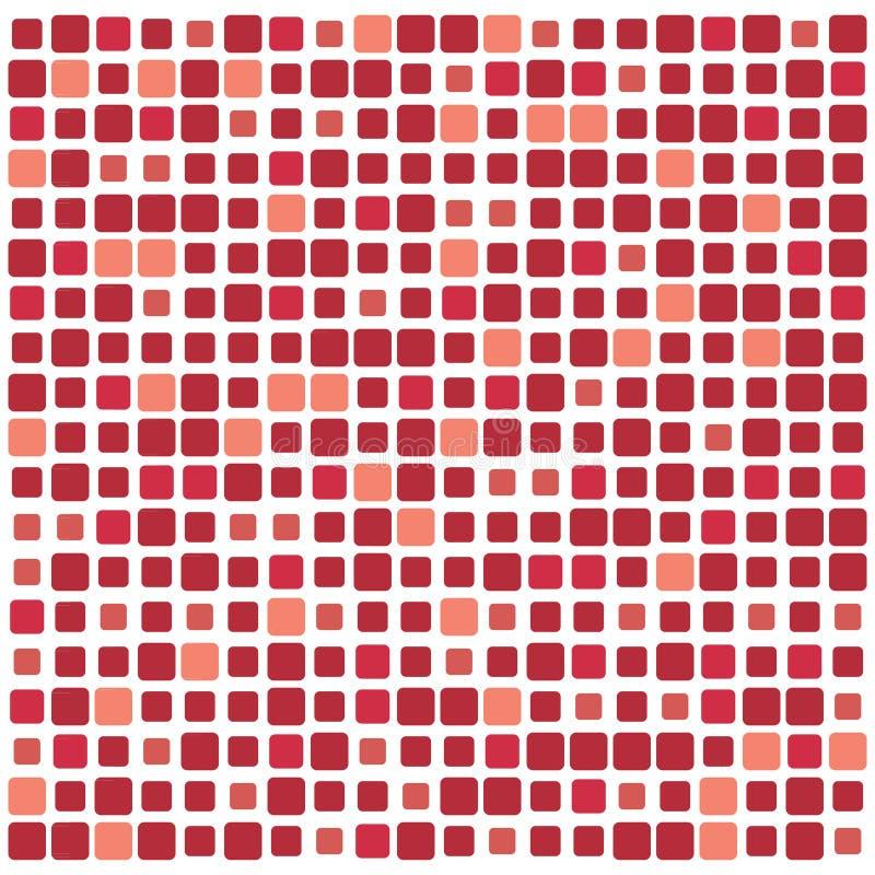 Fondo colorido abstracto del vector de cuadrados stock de ilustración