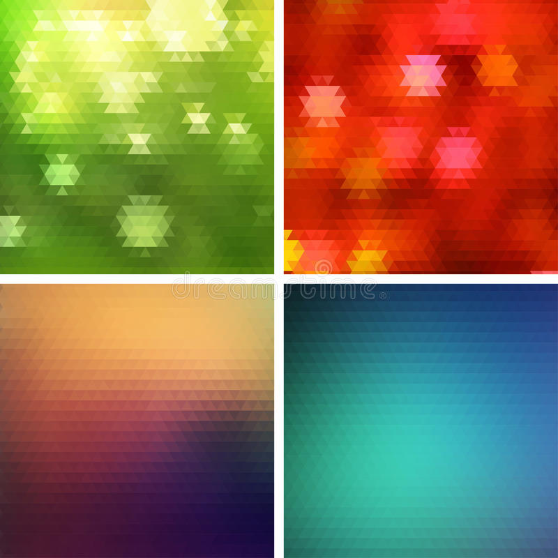 Fondo colorido abstracto del vector del triángulo stock de ilustración