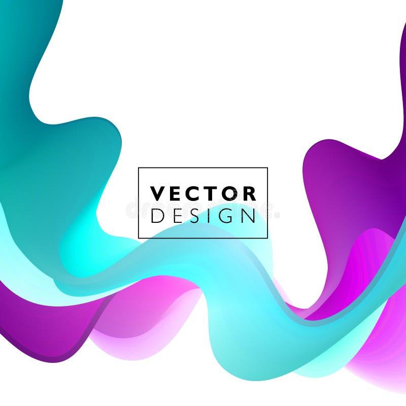 Fondo colorido abstracto del vector, onda líquida del flujo del color para el folleto del diseño, sitio web, aviador libre illustration