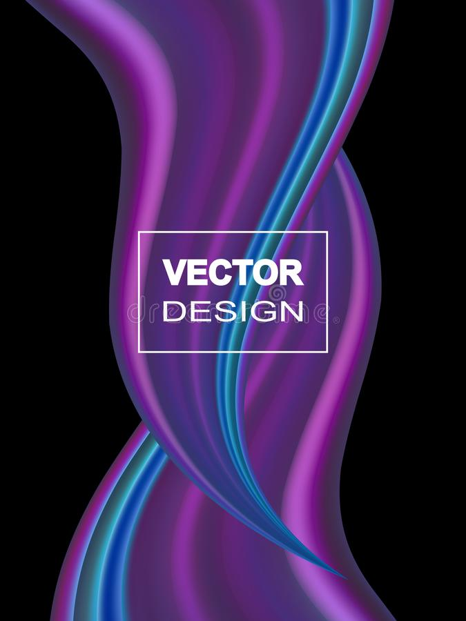 Fondo colorido abstracto del vector, onda líquida del flujo del color para el folleto del diseño, sitio web, aviador ilustración del vector