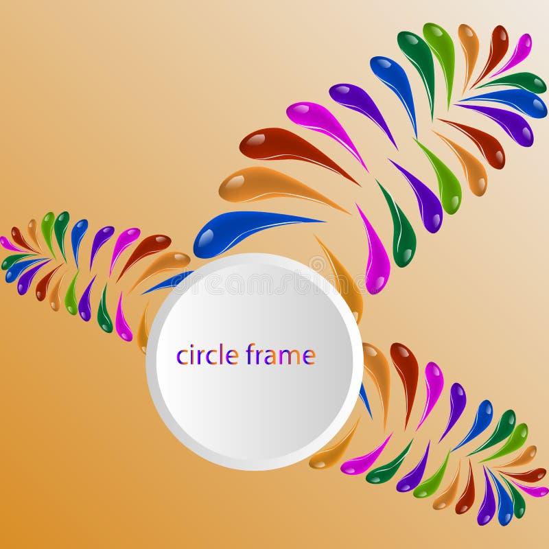 Fondo colorido abstracto del vector, onda líquida del flujo del color para el folleto del diseño, sitio web, aviador stock de ilustración
