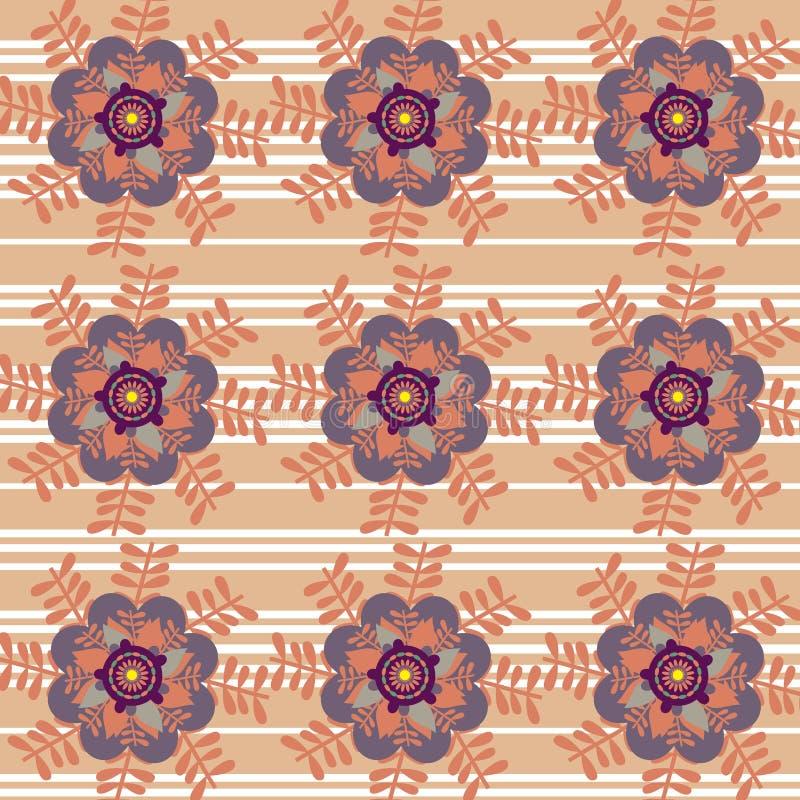 Fondo colorido abstracto floral, ilustración del vector