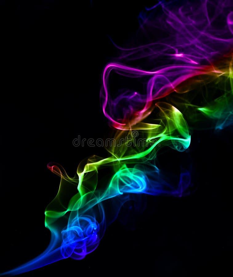 Fondo colorido abstracto hecho con humo verdadero imagenes de archivo