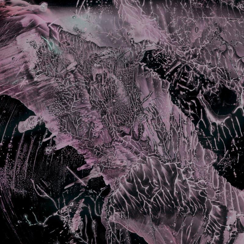 Fondo colorido abstracto Las manchas de la pintura crean un modelo ?nico fotografía de archivo libre de regalías