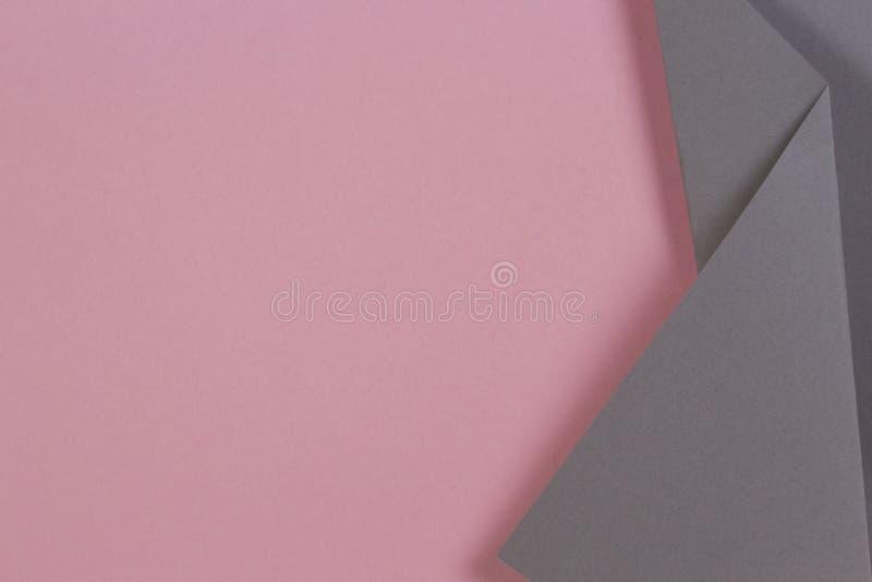 Fondo colorido abstracto Papel rosado y gris en colores pastel en forma de la geometría ilustración del vector