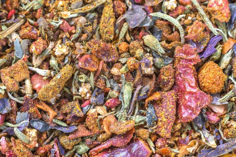 Fondo colorido anaranjado brillante natural texturizado extracto del espacio de la copia Mijo, roble, pequeñas partículas de dive foto de archivo libre de regalías