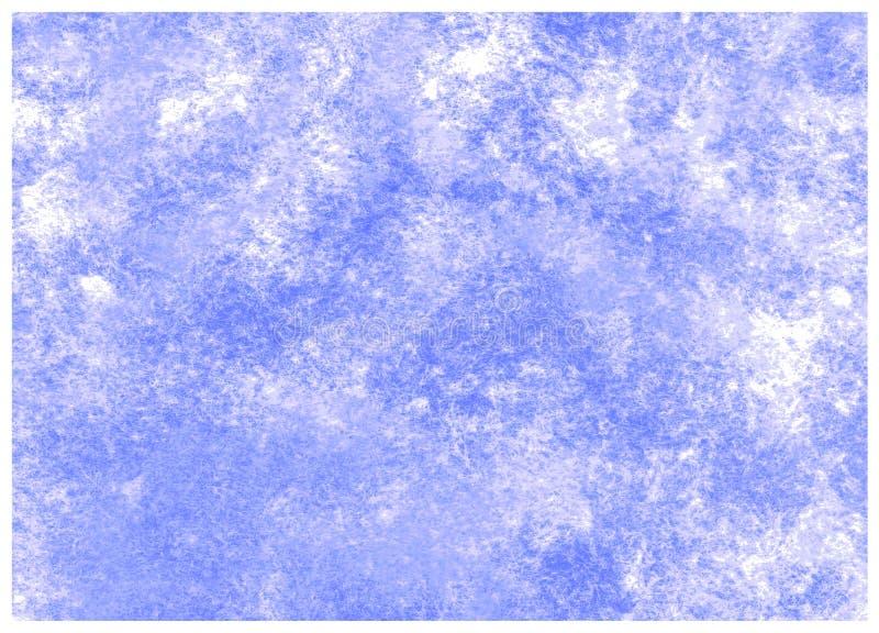 Fondo colorido azul de la acuarela del drenaje de la mano de las nebulosas del extracto stock de ilustración