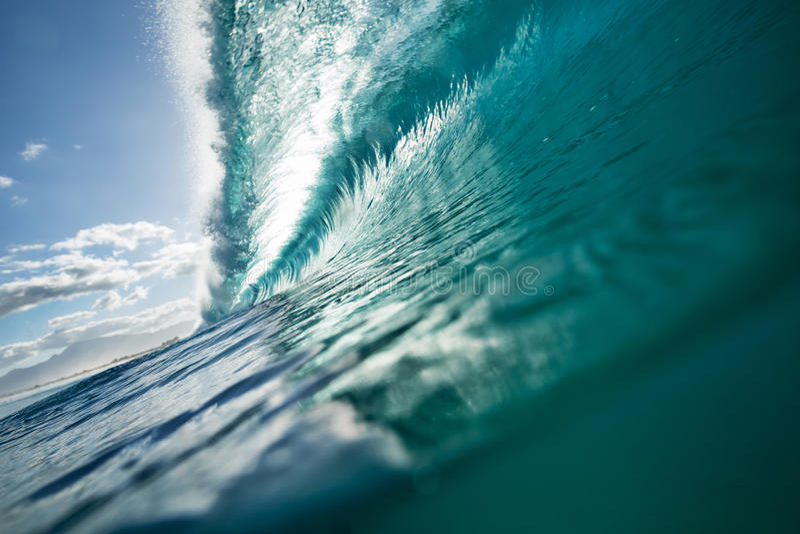 Fondo colorido brillante del mar de la ola oceánica foto de archivo libre de regalías