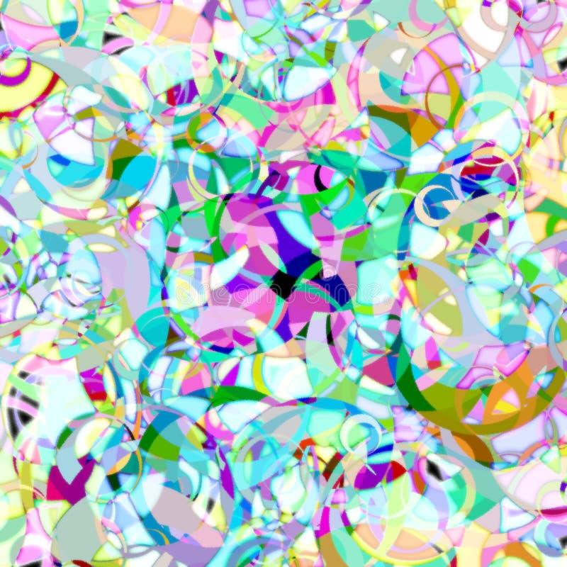 Fondo colorido caótico de los círculos Ejemplo del arte stock de ilustración