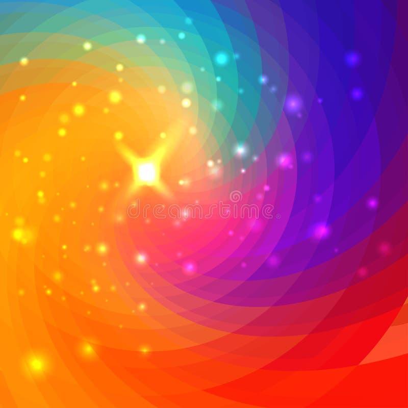 Fondo colorido circular abstracto libre illustration