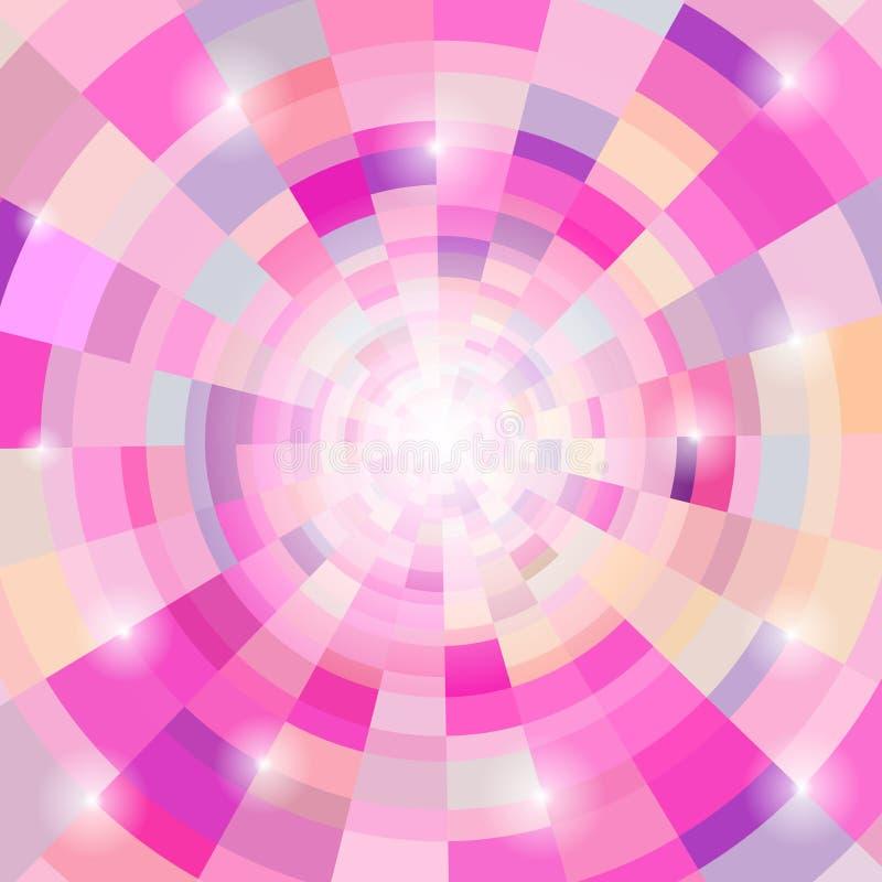 Fondo colorido circular abstracto ilustración del vector