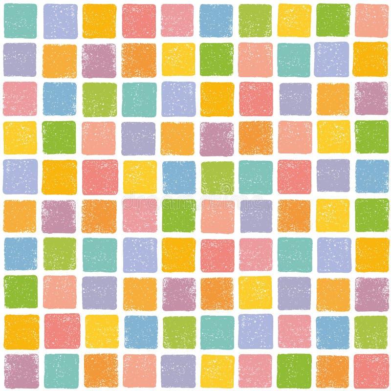 Fondo colorido con el sello del cuadrado del grunge ilustración del vector