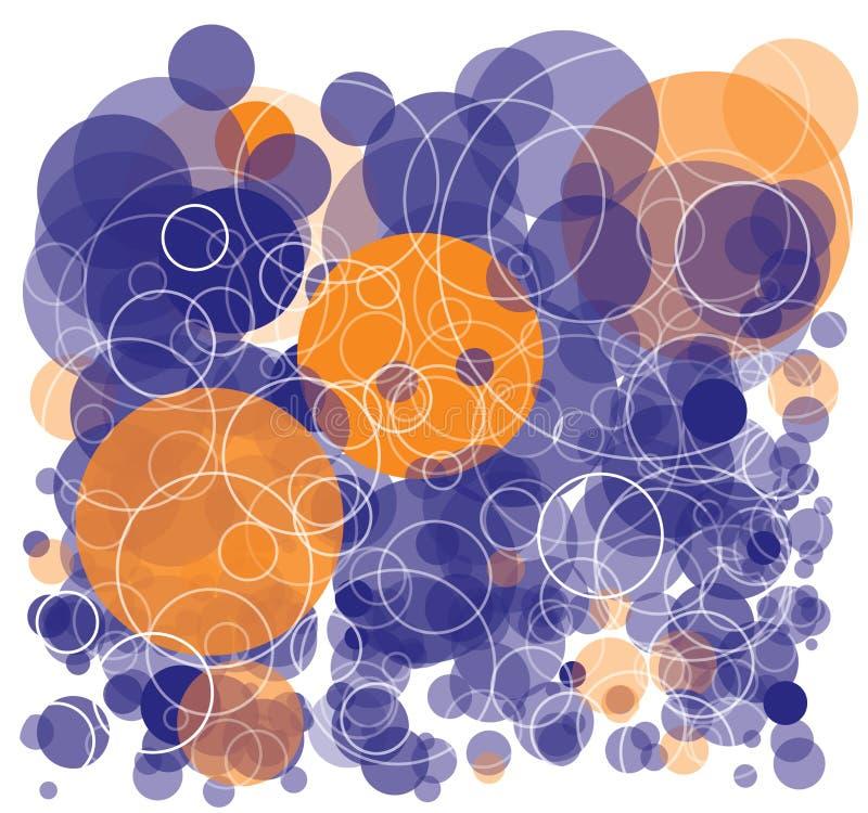 fondo colorido con las burbujas ilustración del vector