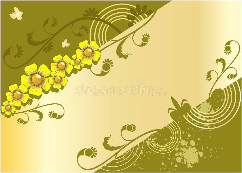 Fondo colorido con las flores stock de ilustración