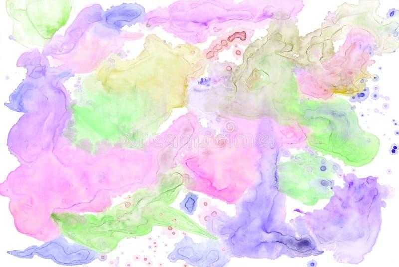 Fondo colorido de la acuarela stock de ilustración