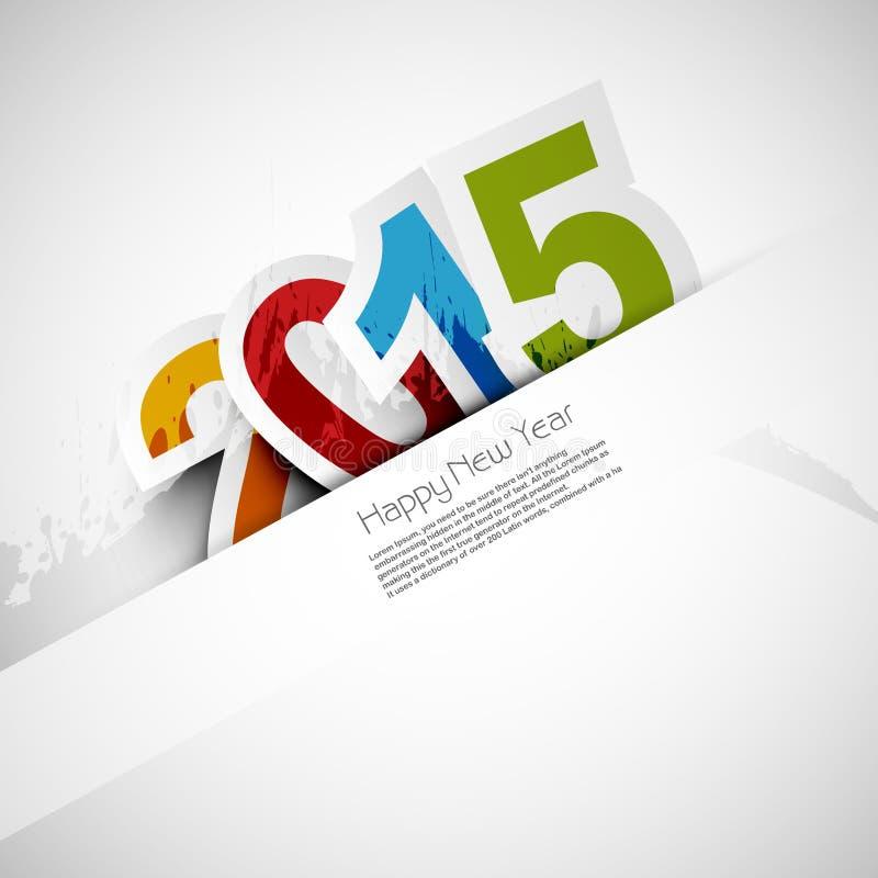 Fondo colorido 2015 de la celebración de la Feliz Año Nuevo ilustración del vector