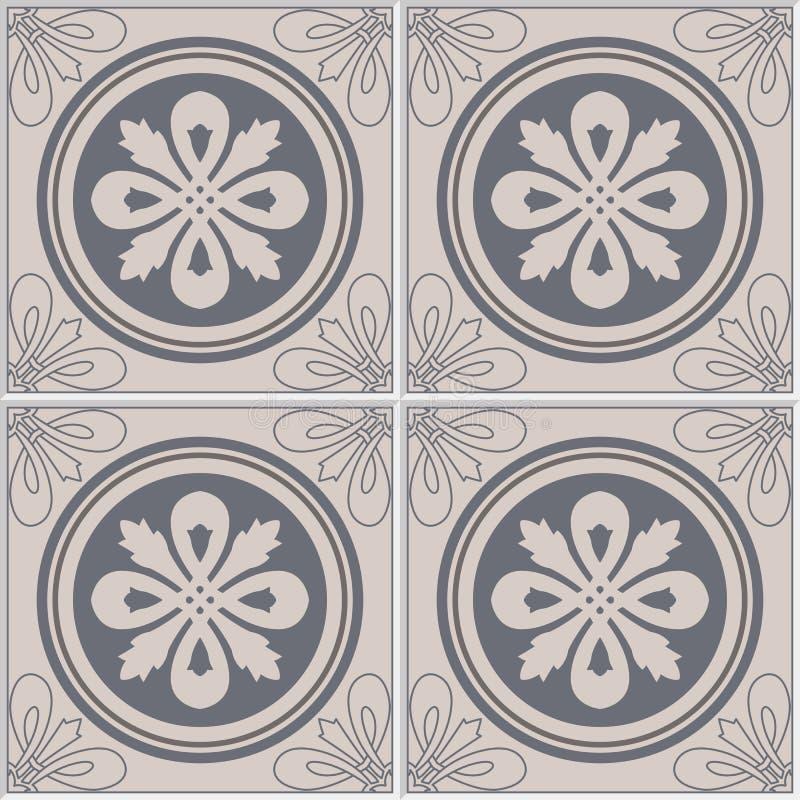 Fondo colorido de la decoración de la pared de las baldosas cerámicas de la vendimia Tejas de Lisboa libre illustration