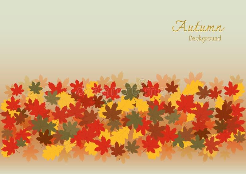 Fondo colorido de la estación y del día de fiesta del otoño ilustración del vector
