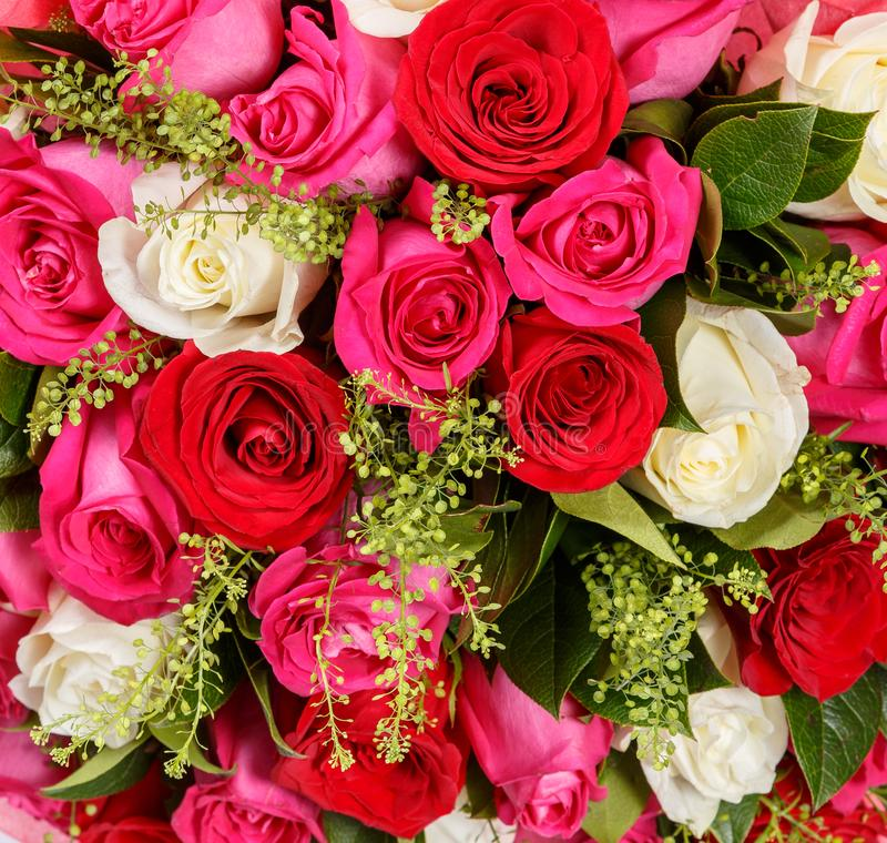 Fondo colorido de la flor Fondo de la naturaleza de las flores Ramo floral imágenes de archivo libres de regalías