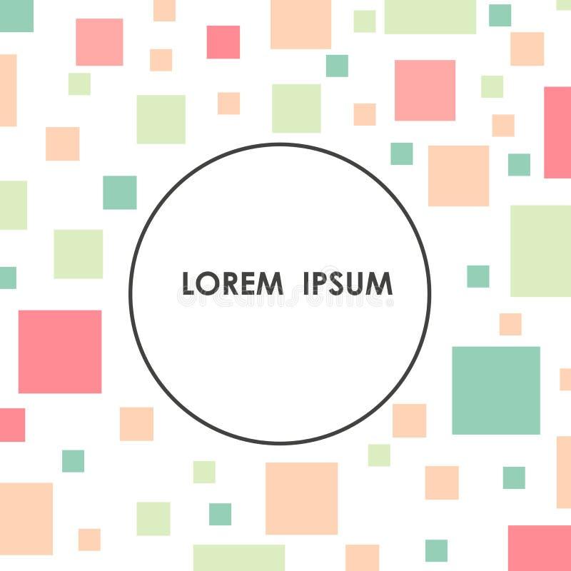 Fondo colorido de la forma de la diversión para su cubierta ilustración del vector
