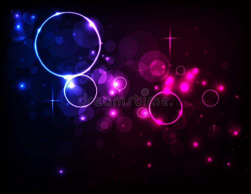 Fondo colorido de la luz del extracto del círculo del vector ilustración del vector