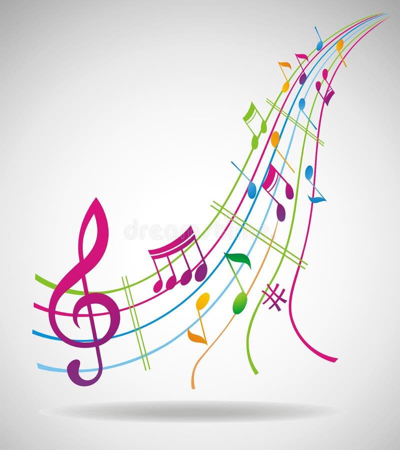 Fondo colorido de la música. libre illustration