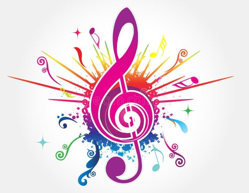Fondo colorido de la música stock de ilustración