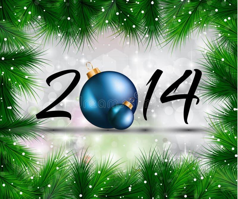 Fondo colorido de la Navidad 2014 y del Año Nuevo stock de ilustración