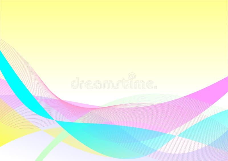 Fondo colorido de la onda foto de archivo libre de regalías