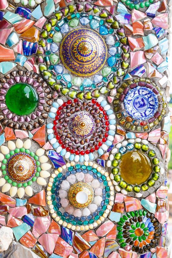 Fondo colorido de la pared del extracto del arte del mosaico fotografía de archivo libre de regalías
