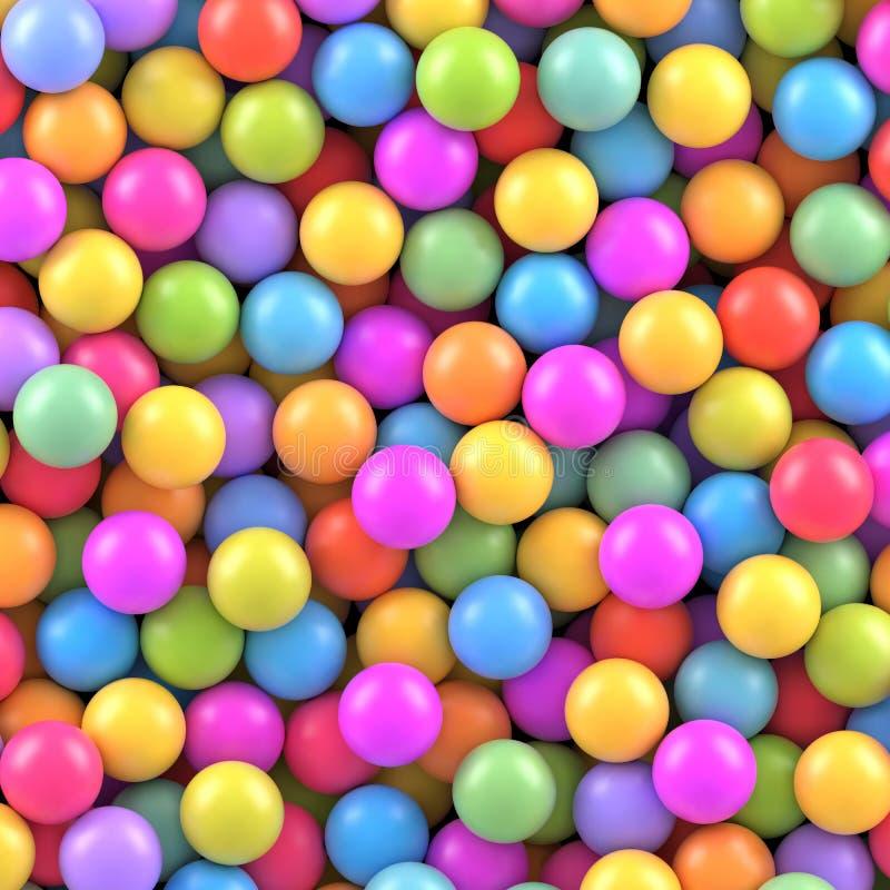 Fondo colorido de las bolas ilustración del vector
