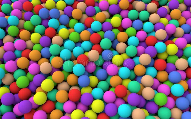 fondo colorido de las bolas 3d libre illustration
