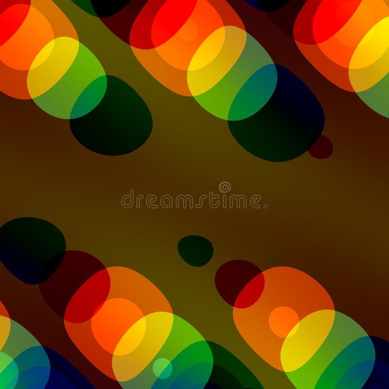 Fondo colorido de las burbujas Diseño abstracto para el prospecto o el contexto del folleto del libro de la bandera del cartel de ilustración del vector