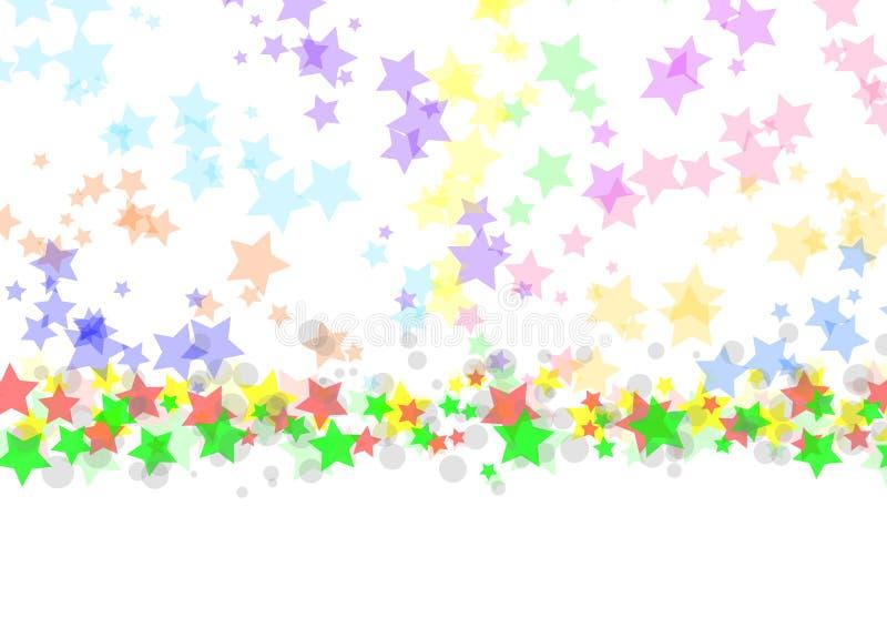 Fondo colorido de las estrellas ilustración del vector