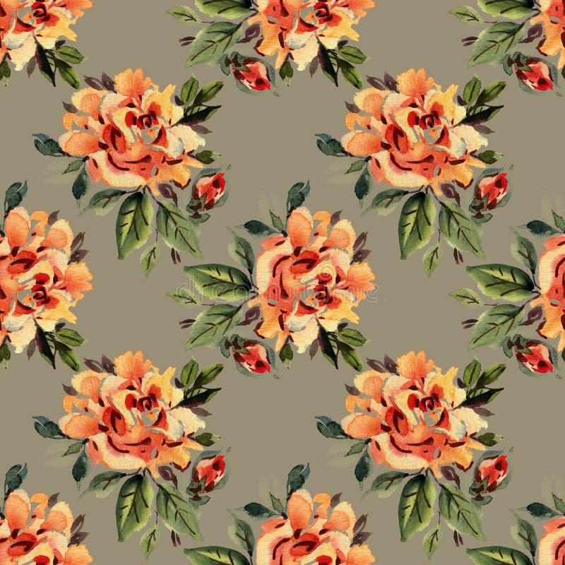 Fondo colorido de las flores Acuarela - ejemplo foto de archivo libre de regalías