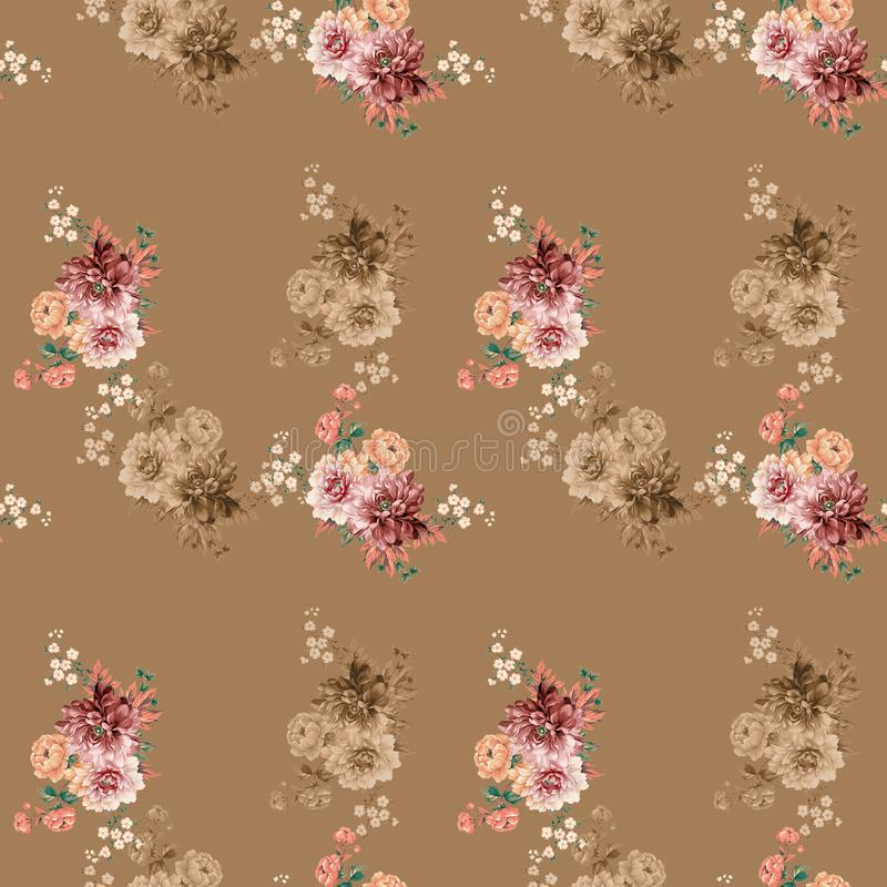 Fondo colorido de las flores Acuarela - ejemplo imagenes de archivo