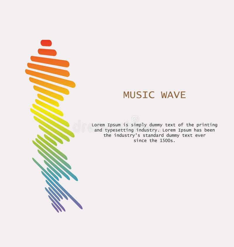 Fondo colorido de las ondas acústicas Símbolo aislado del diseño stock de ilustración