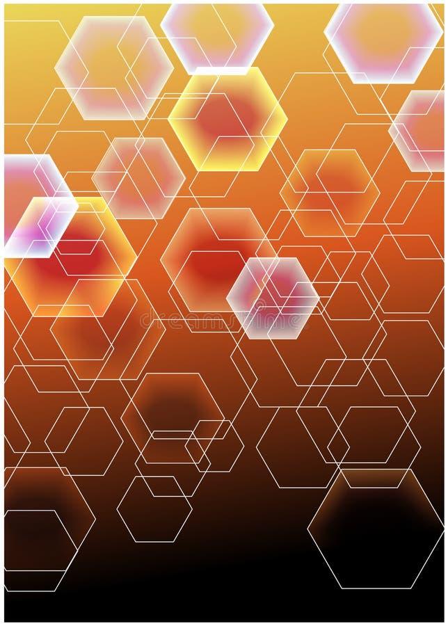 Fondo colorido de las tejas de mosaico ilustración del vector
