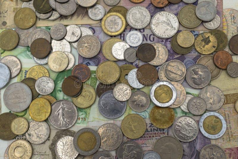 Fondo colorido de los billetes del Viejo Mundo imagenes de archivo