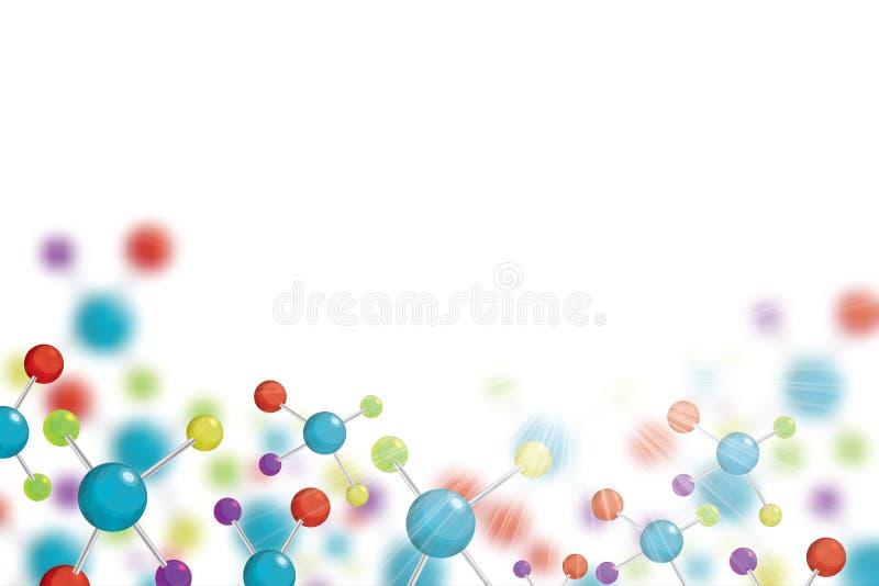 Fondo colorido de los colores de la molécula abstracta stock de ilustración