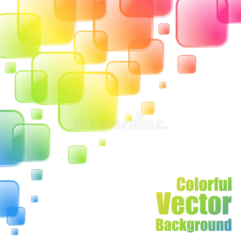 Fondo colorido de los cuadrados ilustración del vector