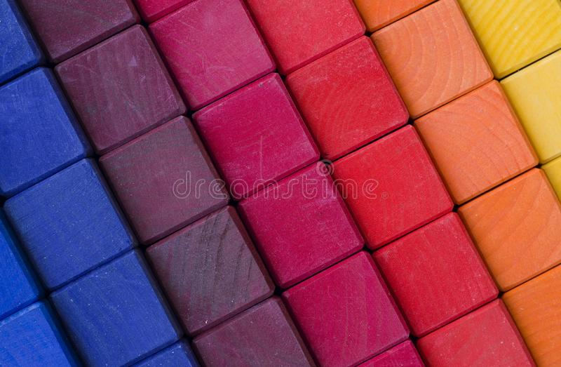Fondo colorido de los cubos foto de archivo libre de regalías