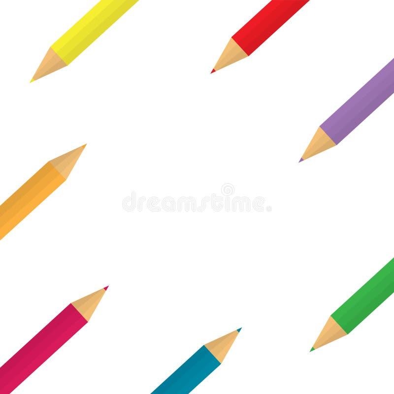 Fondo colorido de los l?pices libre illustration