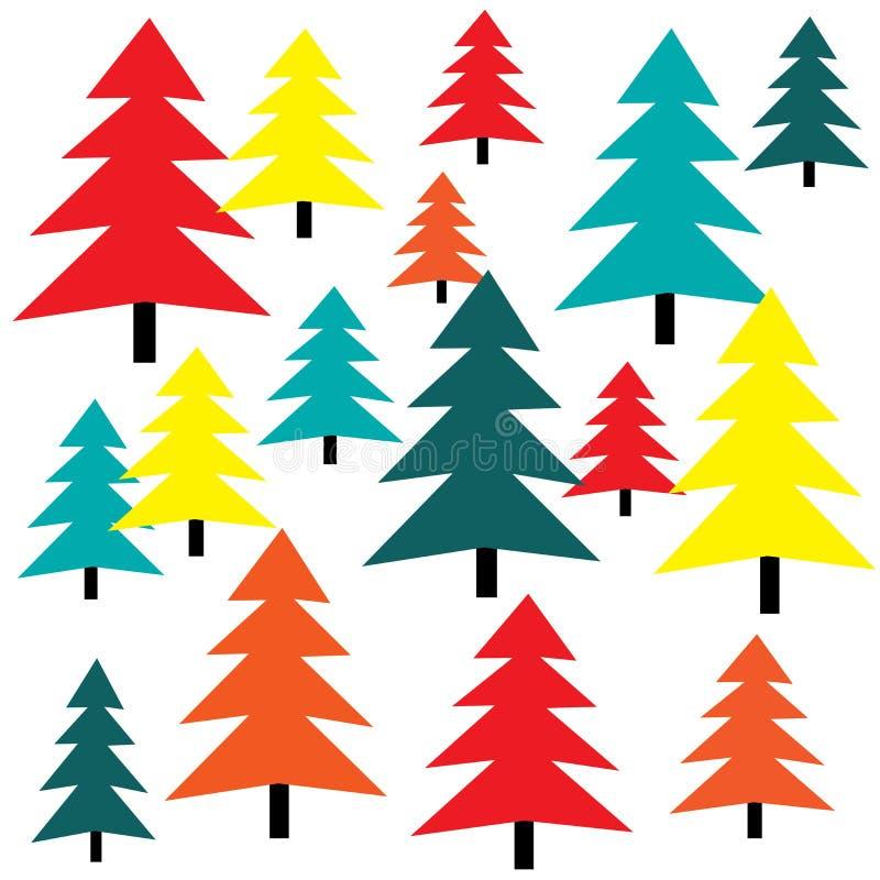 Fondo colorido del árbol stock de ilustración